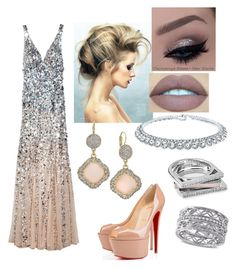 """""""Outfit # 578"""" by nellyboo209 ❤ liked on Polyvore featuring Rachel Gilbert, Christian Louboutin, INC International Concepts, Kendra Scott, Bling Jewelry, Allurez, women's clothing, women, female and woman"""