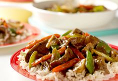 Ready, set, stir-fry! No wok is required to make this simpleskillet stir-fry that gets color and flavor from lots of veggies.