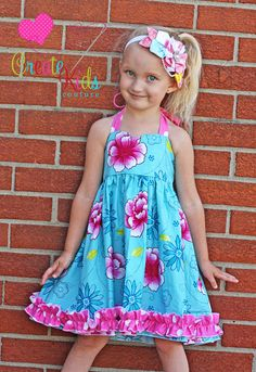 Anna's Sweetheart Halter Top and Dress PDF Pattern size 6-12 months to size 8