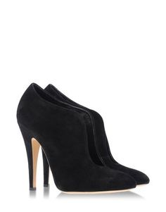 CASADEI Suede Ankle Booties (with cut-out detailing).