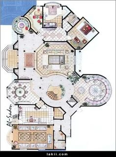 House Layout Plans, Dream House Plans, Modern House Plans, Small House Plans, House Layouts, House Floor Plans, Classic House Design, Modern Villa Design, Circle House