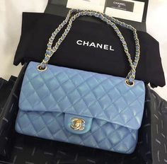 New and Used Jewelry & accessories for Sale in Las Vegas, NV - OfferUp - Clothes - Chanel bag pearl blue bag - Chanel Handbags, Fashion Handbags, Purses And Handbags, Fashion Bags, Chanel Bags, Chanel Chanel, Blue Handbags, Chanel Purse, Luxury Purses