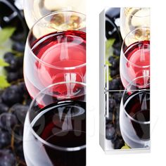 Fabric Fridgy Sticker WINE GLASSES by Sticky!!!