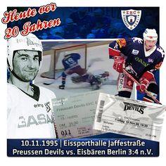 Rückblick am 10. November auf den Derbysieg der Eisbären bei den Preussen Devils am Eichcamp.