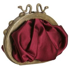 Christian Louboutin burgundy pleated satin 'Luis' framed clutch at... (£205) ❤ liked on Polyvore featuring bags, handbags, clutches, purses, accessories, bolsas, burgundy clutches, christian louboutin, red purse and red handbags