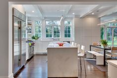 Contemporary Kitchen by Sellars Lathrop Architects, llc Pantry Design, Kitchen Design, Fairfield House, Color Schemes, Kitchen Island, Table, Furniture, Home Decor, Architects