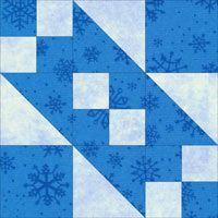 Rocky Road to California quilt block design