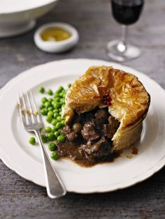 Camilla's all-butter puff pastry, packed with tender steak and smoky bacon, sliced mushrooms and baby onions. Topped with cracked black pepper. White Mushrooms, Stuffed Mushrooms, Stuffed Peppers, Veggie Rolls, Butter Puff Pastry, Mushroom Pie, Tender Steak, Smoky Bacon