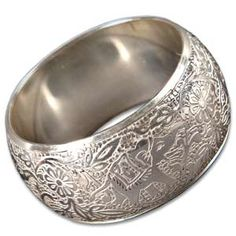 @WorldCrafts {Follow the Leader Bangle ~ Noah's Ark ~ India} Sparkling bangle with elephant pattern is sure to make an impression. Hand-tooled, silver-colored brass from India. Handmade by artisans who are working to support schools for their children and provide clean water for their families. #fairtrade