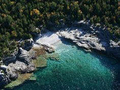 Eastern shores of the Bruce Peninsula National Park, Ontario, Canada Flowerpot Island, Places To See, Places Ive Been, Lake Huron, Canada Travel, Maple Syrup, Georgian, Duke, Ontario