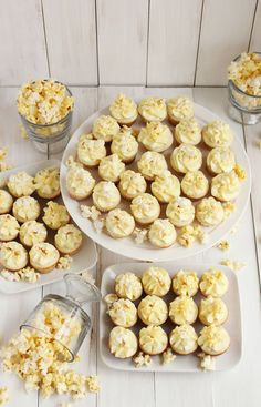 Buttered popcorn cupcakes | A Beautiful Mess