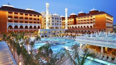 Hotel Royal Taj Mahal, Side, Antalya, Turcia Side Antalya, Hotel Royal, Taj Mahal, Mansions, House Styles, Beach, Holiday, Tourism, Lush