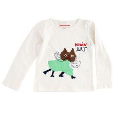 Long Sleeve T Shirt with Clover Cat Print by Nadadelazos - Junior Edition www.junioredition.com
