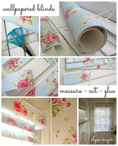 wallpaper blinds - they look so nice :)