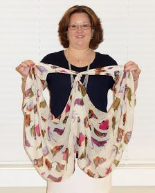 Monica with kika Blog: How to Tie a Scarf Into a Vest (2013 version)
