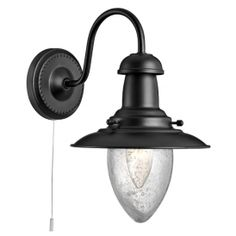 5331-1BK Fisherman 1 Light Wall Light Black