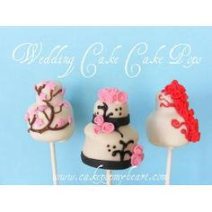 Cake Pop My Heart    Wedding cake pops