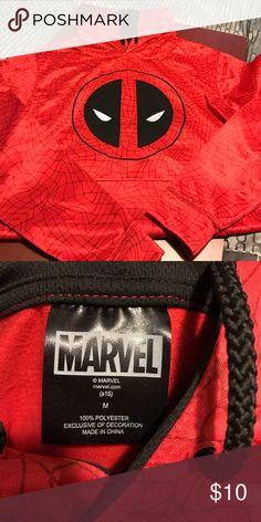 Dead pool sweatshirt Like new, worn once, super silky on the outside, hooded Marvel Tops Sweatshirts & Hoodies
