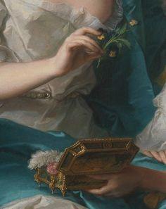 Madame Marsollier et sa fille (Détails) Jean-Marc Nattier . 1749
