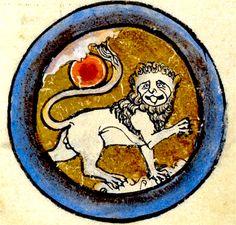 Calendrier Juillet Lion et soleil MS 62925 British Library 1260