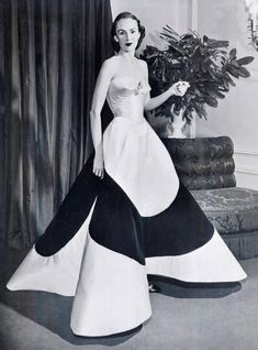 Are Charles James's Gowns Couture? - Nora Campillo de Fernandez - - Are Charles James's Gowns Couture? Charles James, Edwardian Fashion, 1940s Fashion, Vintage Fashion, Emo Fashion, Vintage Couture, Hollywood Fashion, Fashion Black, Gothic Fashion