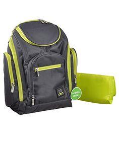 "Babyboom ""All Day"" Diaper Backpack - gray/sage, one size Baby Boom http://www.amazon.com/dp/B00EHKCH78/ref=cm_sw_r_pi_dp_BAf.ub09EKEE2"