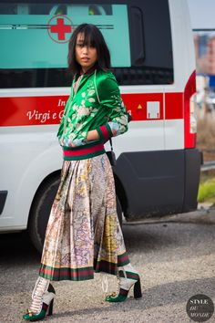 Margaret Zhang Street Style Street Fashion Streetsnaps by STYLEDUMONDE Street…
