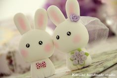 Casual Collection LOVE ANGELS rabbit and bunny  Wedding by kikuike, $90.00