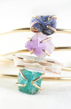Kai cuff bracelet  gemstone cuff gold bracelet by kealohajewelry, Maui, Hawaii, https://www.etsy.com/listing/186028543