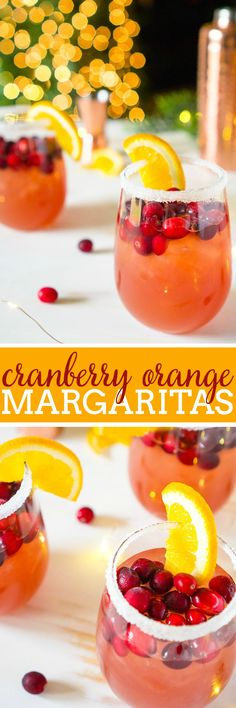 The Orange Cranberry Margarita is an easy holiday cocktail recipe for Thanksgiving and Christmas! The sweetness of the orange complements the tartness of the cranberries, making it a big crowd pleaser. Plus, sipping a holiday drink garnished with fresh cranberries and orange slices is festive and fun! | The Love Nerds #cranberryorange #holidaycocktail #christmasmargarita via @lovenerdmaggie