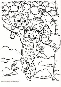 Lisa Frank Cat Coloring Pages Printable