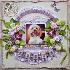 Love this LO by @Susan Caron Caron Caron Caron Caron Lui for her puppy using Place in Time. Isn't this precious? #graphic45 #layouts