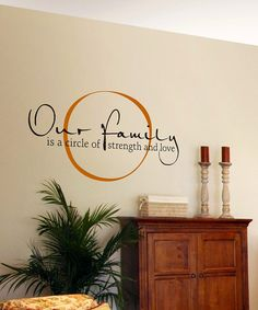 Take a look at this Copper & Black 'Our Family' Wall Quote by Wallquotes.com by Belvedere Designs on #zulily today!
