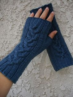 Fingerless mitts for him or her with easy sizing ribs & a beautiful central cable. Fingerless mitts for him or her with easy sizing ribs & a beautiful central cable. Crochet Mittens, Crochet Gloves, Knit Crochet, Crochet Crafts, Baby Knitting Patterns, Hand Knitting, Fingerless Gloves Knitted, Knitting Accessories, Hand Warmers