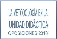 METODOLOGÍA UNIDAD DIDÁCTICA OPOSICIONES SECUNDARIA 2018 Classroom, Teacher, Education, Learning, School, Edc, Montessori, English, Ideas