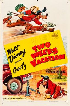 """Movie Posters:Animated, Goofy - Two Weeks Vacation (RKO, 1952). One Sheet (27"""" X 41"""").. ..."""