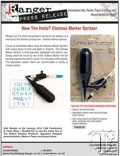 Ranger Tim Holtz Distress Marker spritzer | love this idea -- will help me get more use out of the markers