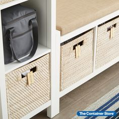 One look and you'll agree - our Rattan Cube is simply a gorgeous storage and organization solution! Each is handwoven with a quality that's second to none. You'll love that the Cube is sized to fit within a variety of our shelving options and its integrated handles make it easy to remove from a shelf or move from room to room. Use the cube in the living room to corral magazines, playroom for toys, the craft room to organize or the office for accessories! Great for entryways and mudrooms too. Toy Storage Cubes, Reach In Closet, Dresser Top, Entryway Organization, Container Store, Fabric Storage, A Shelf, Rattan, Playroom