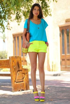 Yellow and Blue Outfit for Summer