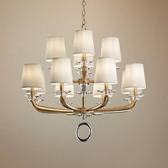 "Schonbek Emilea 33 1/2"" Wide French Gold 12-Light Chandelier - #21M16 