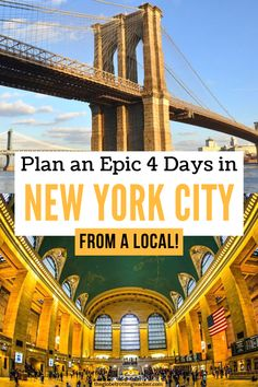 Plan 4 Days in New York City using this epic guide written by a local. Get detailed, day-by-day planning with NYC maps and helpful New York City travel tips!