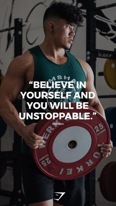 """""""Believe in yourself and you will be unstoppable."""" - Unknown. #gymshark #motivation"""