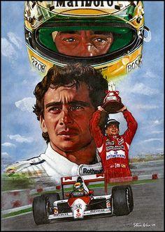 The legend, Ayrton Senna da Silva was a three times Formula One world championship. Visit our website for a historical overview of this icon, Ayrton Senna and McLaren Honda F1 Wallpaper Hd, Aryton Senna, Automobile, Speed Art, Gilles Villeneuve, Formula 1 Car, Mc Laren, F1 Racing, Racing Wheel