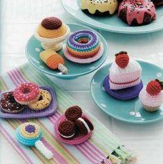 dessert amigurumi patterns - Food Amigurumi - Ice Box Crochet - Crochet Pretend Play Food
