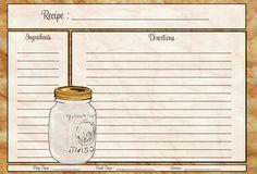 Recipe Cards Template for Word - 50 Luxury Recipe Cards Template for Word , Blank Recipe Template Printable Templates Resume Recipe Scrapbook, Printable Recipe Cards, Classic Tattoo, Meals In A Jar, Vintage Recipes, Photo Cards, Free Printables, Printable Templates, Mason Jars
