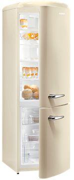 Zeige Details für Sibir Oldtimer OT 322 CR, Freistehender Kühlschrank, Creme, rechts, A++