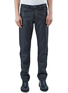 RICK OWENS DRKSHDW Men'S Berlin Painted Bootcut Jeans In Black. #rickowensdrkshdw #cloth #