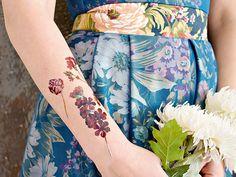 DIY tattoo | vintage floral tattoo