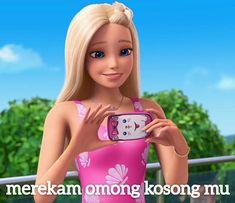 Barbie Jokes, Barbie Cartoon, Disney Princess Pictures, Disney Princess Drawings, Memes Funny Faces, Cute Memes, All Meme, Stupid Memes, Barbie Images