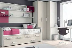 30 bedrooms juveniles that you'll love - Only Bedrooms Kids Bedroom Designs, Kids Room Design, Luxury Bedroom Furniture, Bedroom Decor, Luxury Bedding, Single Bedroom, Decorate Your Room, Luxurious Bedrooms, Girl Room